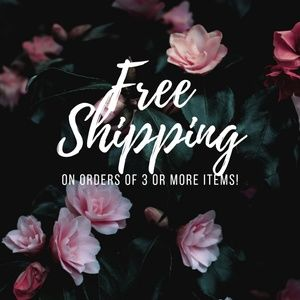 Free shipping on Bundles of 3+ Items